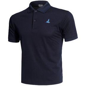 e55ad8cd734af Camisa Deportes Polo Hombres Ligero Casual Secado Rápido Azul