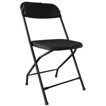 Compra silla plegable de plastico color negro online for Compra de sillas plegables