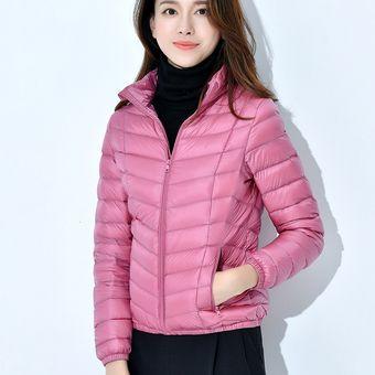 fotos oficiales ac9e1 7104b Chaqueta Abrigos De Moda Para Mujer-Rosado
