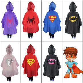 4896ae9a7 Superman Batman Spiderman Niños Niñas Impermeable Rainsuit