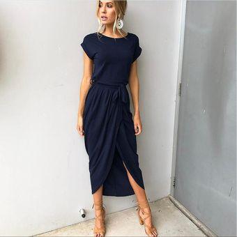 Vestido De Noche Generic Vestidos Mujer Azul Marino