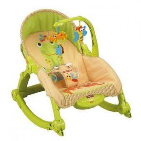 8d5726bf5 Silla Mecedora Vibradora Para Bebe Crece Conmigo Portatil Fisher Price  T2518-Verde