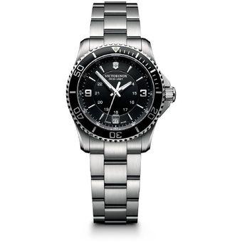fotos oficiales 299ac b1f82 Reloj Victorinox Swiss Army Maverick Black Dial Stainless Steel - Mujer