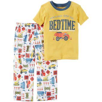 5b9a1236f6 Compra Pijama 2 Piezas De Algodón Carter s Para Bebé Niño- Amarillo ...
