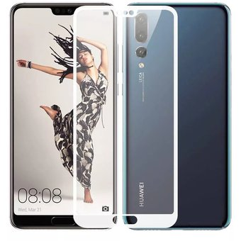 25a0e0d1 Mica/ Vidrio Templado Para Huawei P20 Pro 3D Curvo Pantalla Completa -  Color Blanco