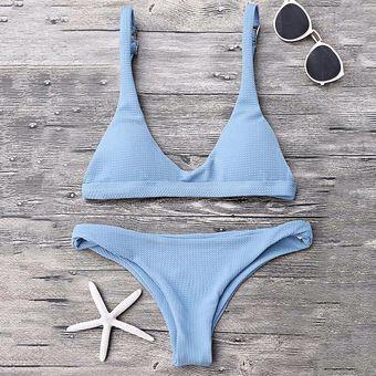 219cec722e95 Sexy Bikini Set Bra + Conjunto De Ropa Interior Blanco / M