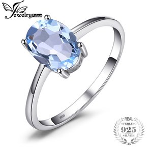 752bd7b7c82c Anillo Jewelrypalace Genuino Azul Cielo Topacio 925 Plata Esterlina
