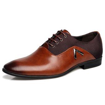 Mocasines Zapatos Vestir Ecocuero Casual Hombre Marrón