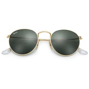 a35c30f0fc Gafas De Sol Ray Ban 3447 001 ROUND Marco Dorado / Lente Verde Talle M  Italinas