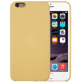8b29f02ccf3 Para El IPhone 6 Y 6s Pure Color Liquid Silicone + PC Cubierta Protectora  Caso (