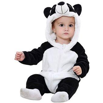 estilo atractivo gran descuento nuevo autentico Mameluco para Bebe con Capucha 6-24 Panda meses disfraz