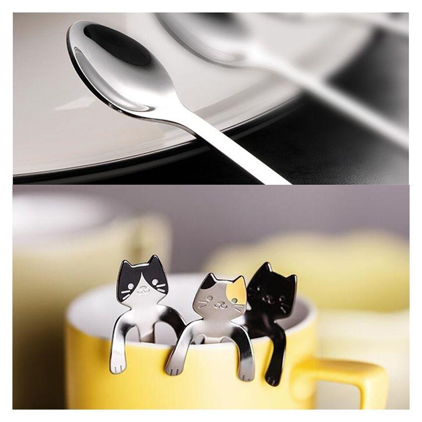2 Pcs Creativo Cartoon Cat 304 Acero Inoxidable Mango Cafe Revolviendo Cucharas 118 * 3cm (oro) SU015HL1I68MULMX HroJeKPj HroJeKPj 4TyCPTQ7