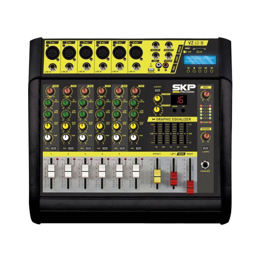 Mixer Con Power 200w 6 Canales + Efectos Skp