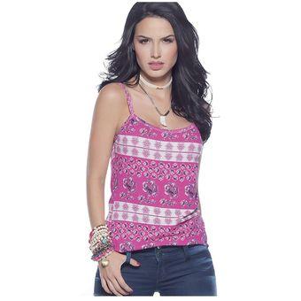 869aacd80 Agotado Blusa Juvenil Para Mujer Marketing Personal 63537 Rosado Estampado
