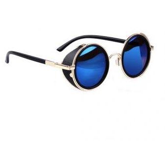 69d55d0819 Agotado Gafas de Sol Yucheer con Cristales Redondos Unisex-Negro con Azul