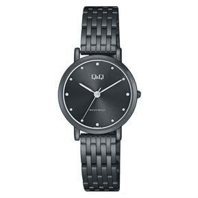 989a36ae19de Reloj Q Q QA21J432Y Para Dama Lujoso Todo Negro