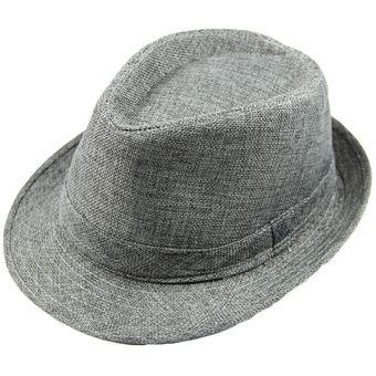 c3a48fc3de541 Sombrero De Fedora Casual De Moda Para Hombres Y Mujeres Con Corona  Pellizcada Sombrero De Panamá