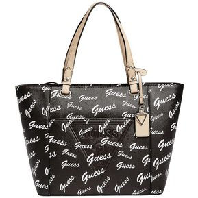 c8c06a1c6 Cartera Guess Mujer - Rigden Large Printed Tote - Negro
