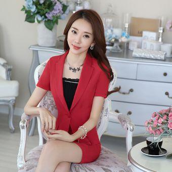 d126a0c042b6 Trajes Con Chaleco Para Mujer Faldas Y Sacos Formales De Oficina Y Negocio  - Rojo