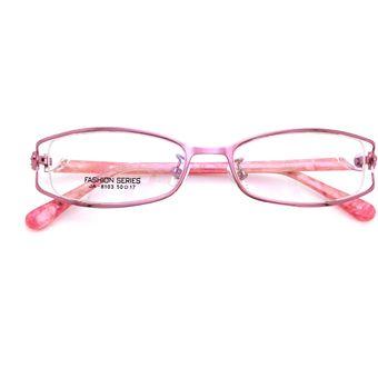 416f9ba8f4 Agotado Mujer Los Anteojos Gafas Ojo Marco Redondo óptico Miopía Lentes -Rosado