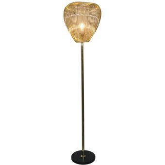 Lámpara de Leiden 1L E27 Dorado Pie PXOTwiukZ