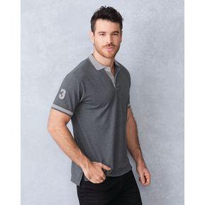 Camiseta Tipo Polo Outfit Para Hombre 4995 Gris 60749268f388d