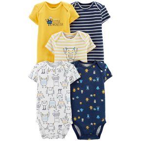 5608d320a Set De 5 Bodys Carters Para Bebé Niño