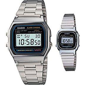 90ea360ec60c Set de Dos Relojes Casio A158WA   LA670WA-1-Plateado