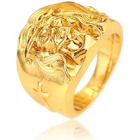 83eabdf314ed EY Estilo religioso Jesús Anillos para hombres y mujeres a la moda hip hop  Joyería anillo