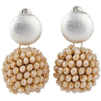 precio bajo cf626 ffbd0 LuckyLy – Aretes Moda Mujer Isabelle, Piedras Brillantes, Rosa Pálido