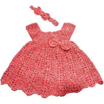 8bbbeb1c Compra Vestido Bebe Niña Tejido Ropa Para Bebes Rojo online | Linio ...