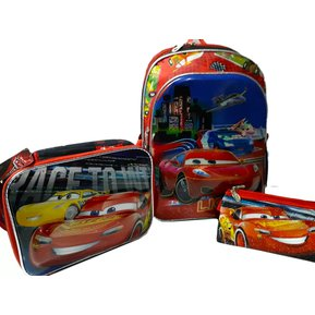Kit X3 Maleta Morral Cars 3 5d + Lonchera + cartuchera Disney 063dc51a068d