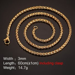 9b6171f02f3b Collares Cadenas De Moda Venico De Joyerìa De Mujer - Dorado