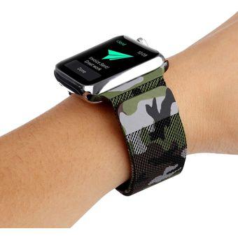 alta moda vendido en todo el mundo buena calidad Imprimir Milán Reloj pulsera acero Apple Watch Series 3 y 2 y 1 38 mm