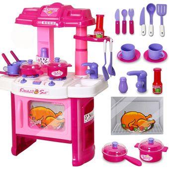 compra set de cocina de juguete con horno con luz y sonido rosa para ni as mayores 3 a os online. Black Bedroom Furniture Sets. Home Design Ideas
