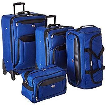 320a66724 Agotado Juego 4 Maletas Set De Viaje AT New Bari American Tourister Azul