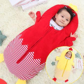 7161b923a grueso cute chick estilo ropa bebe 0 - 6 meses bolsa de dormir para bebe