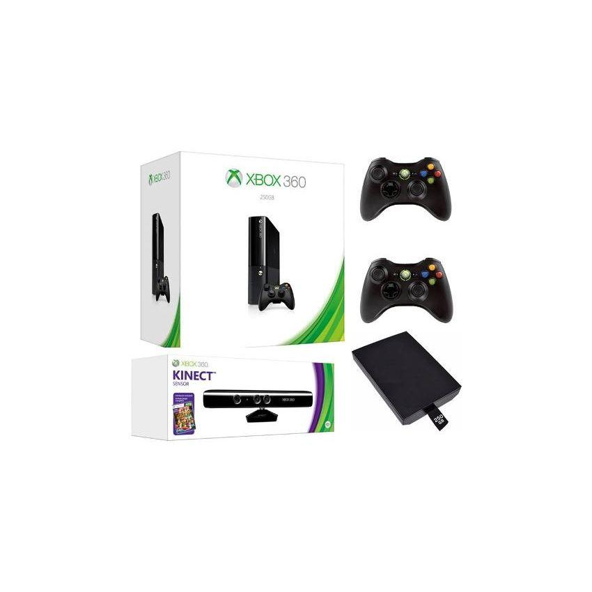 Xbox 360 Super Slim E 320gb Titulos 2controles Kinect 5 0