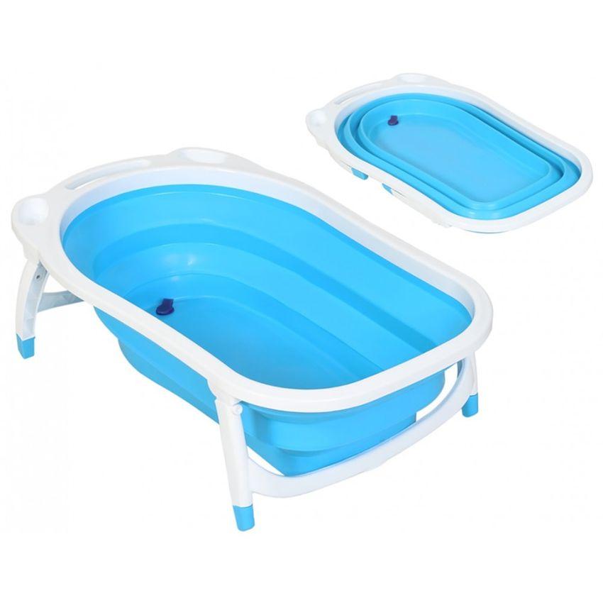 Bañera para bebé plegable celeste Gonline