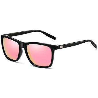 76e4e7ddc3 Hombres Moda Retro UV400 Gafas De Sol Polarizadas De Marco De Aluminio Y  Magnesio (negro