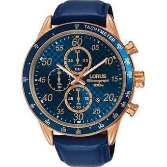 vista previa de Cantidad limitada estilo novedoso RELOJ LORUS CUARZO RM338EX9 Azul con Oro Rosa