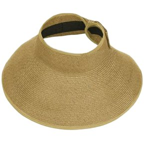 ER Señoras Mujeres Verano Sun Beach Roll Up Plegado De Ala Ancha Visera De  Paja Hat fbbabb1017e
