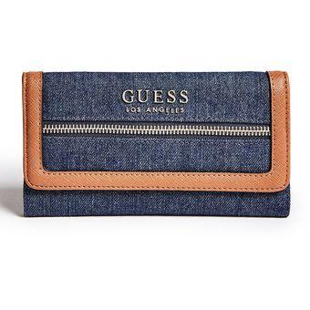 revisa 014b7 9a458 Billetera Guess Mujer - Nikolai Slg - Azul Jean