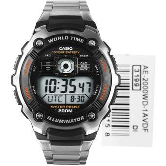 5cba877cdb0d Compra Reloj Casio Ae--2000wd-1a Para Caballero En Acero Plateado ...