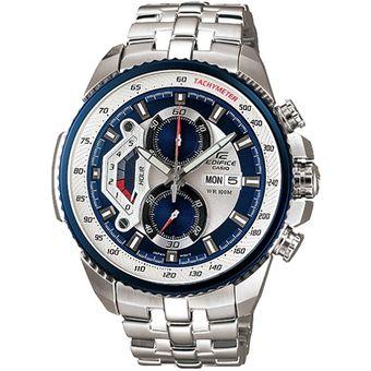 b81a038ab11e Agotado Reloj Casio Edifice EF-558D-2AV Analógico Hombre - Plateado Y Azul