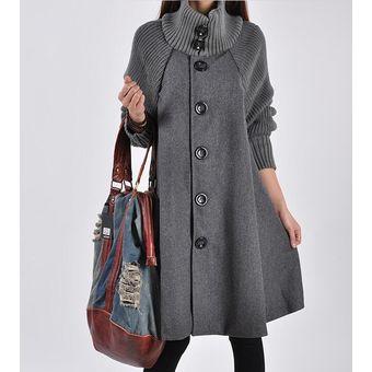 9386e3e6567 Compra Abrigo De Lana Floja De Invierno Abrigos Mujer Moda Mujer ...