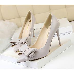 6a8392f3 Zapatos de tacon Genérico Mujer-Gris