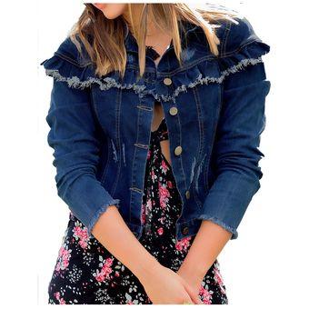803fb0c3e6076 Compra Chaqueta Juvenil Marketing Personal Para Mujer Azul online ...