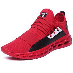 00ce487ec80b7 Zapatillas Deportivas para Correr Usar Zapatillas de Deporte de Color  sólido para Hombres-Rojo