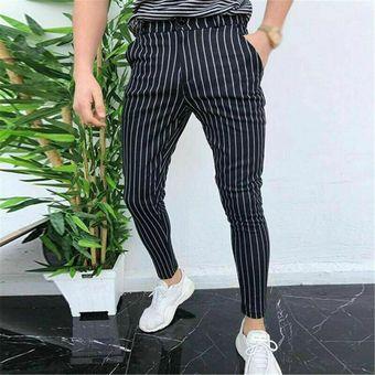 Pantalones Casuales Para Hombres Ajustados Ajustados Traje Formal Pantalones De Vestir Pantalones White Linio Peru Un055fa06n345lpe